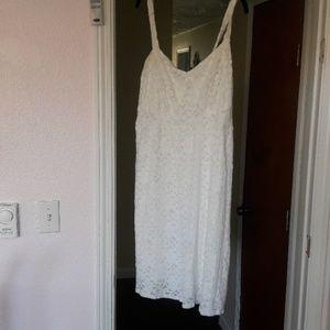Torrid white lace dress